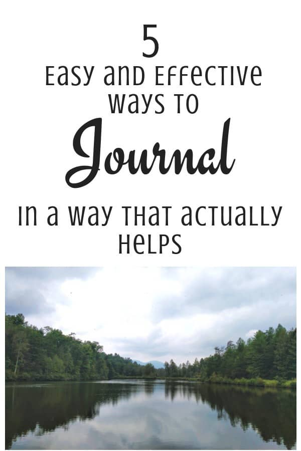 5 journaling tips with lake in background