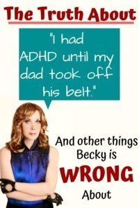 ADHD is real, ADHD is not bad parenting pin