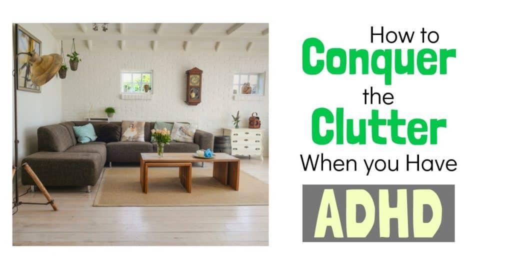 ADHD home organization