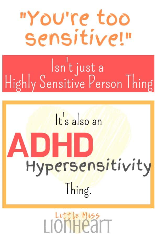 HSP and ADHD sensitivity pin