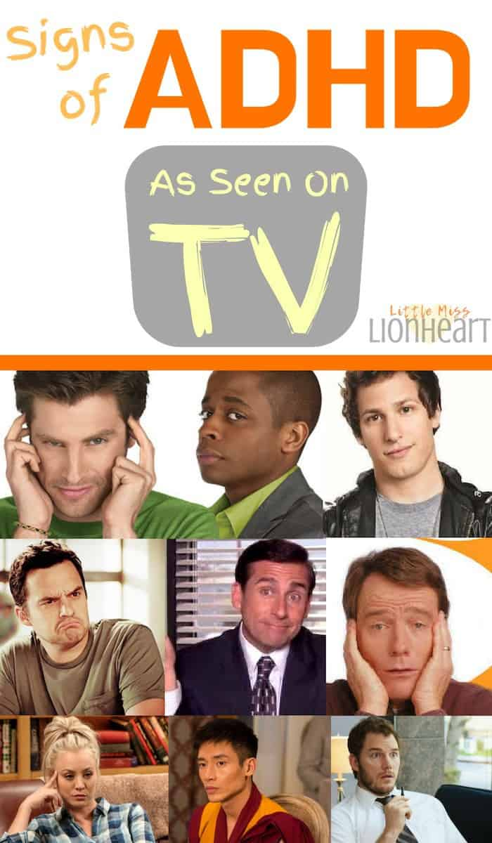TV Characters Signs of ADHD, Attenion issues, and impulse control