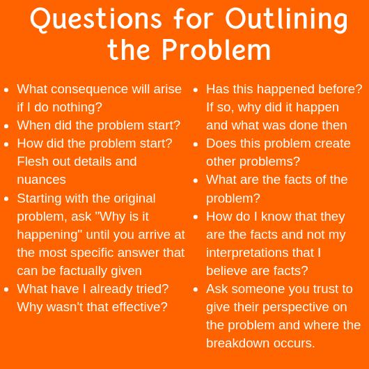 questions problem solving tools