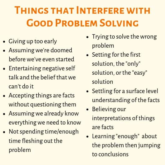 problems with problem solving