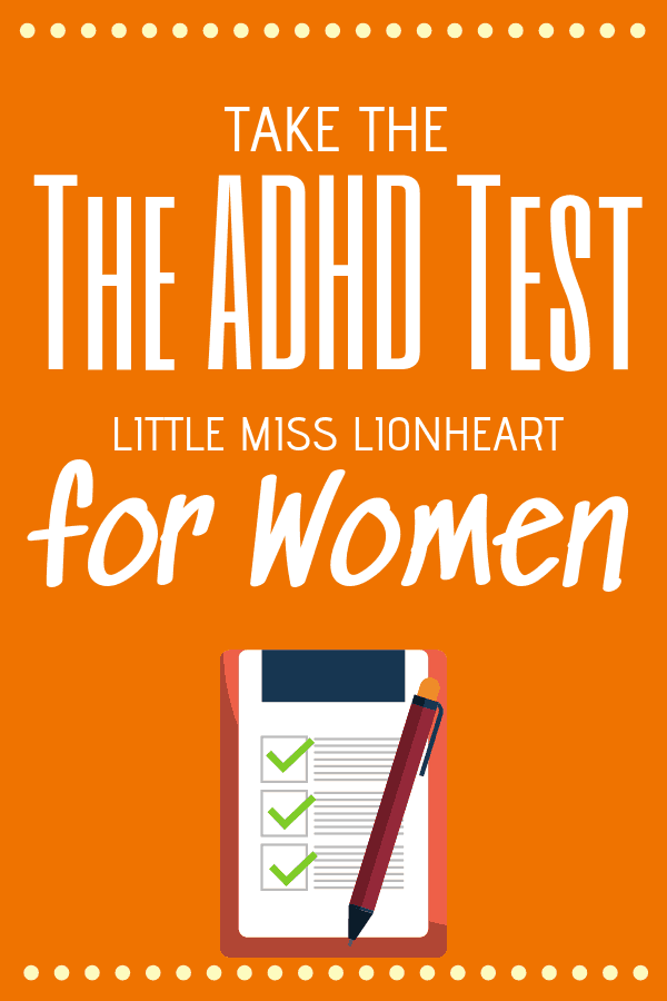 ADHD test for women