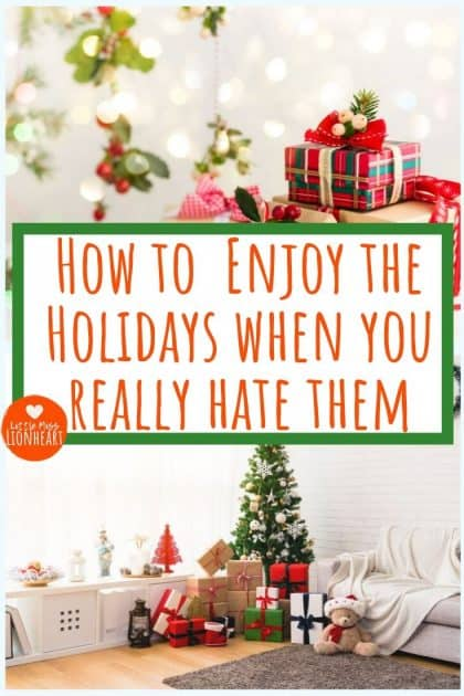 7 tips to enjoy the holidays, even if you usually hate them. These tips helped my Grinch husband look forward to Christmas this year!