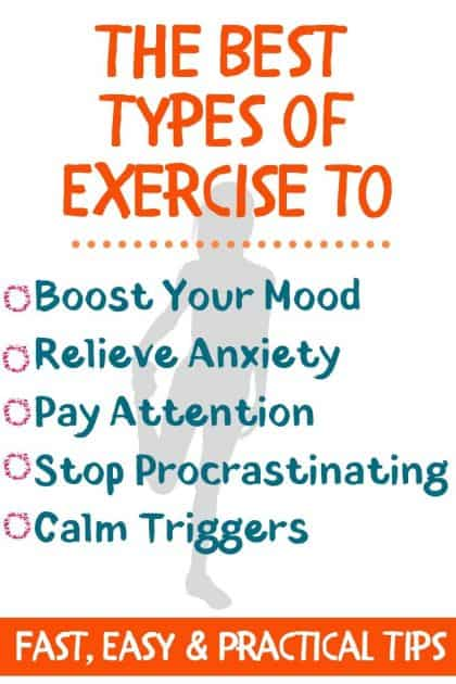 The best way to exercise to help your mental health.Practical, Fast, and Easy ways to: Relieve Anxiety Boost Mood Pay Attention Improve Concentration Get Motivated & Stop Procrastinating Relieve Stress and Reduce Triggers Stop OverthinkingExercise helps Your Mental Health when you know how to use it!