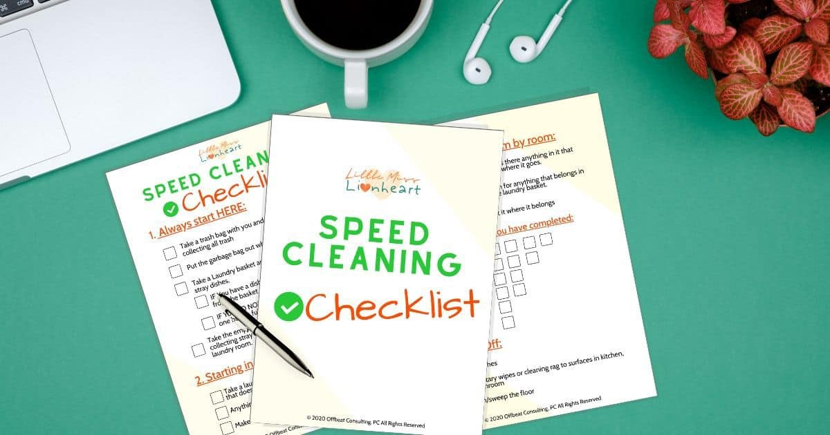 The ADHD Speed Cleaning Checklist for Home